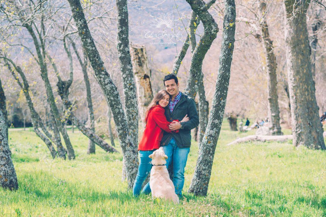 Davinia y Miguel, Preboda en el Escorial